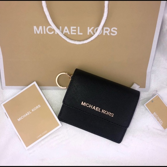 0573c6864acf Michael Kors Bags | Jet Travel Credit Card Case Id Wallet W Key Ring ...